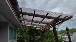 波板屋根の張替え